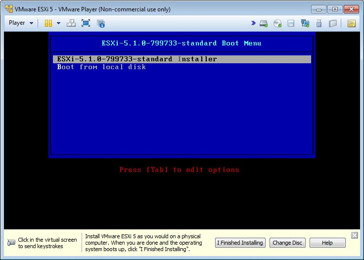 vmware-player-esxi-boot-menu