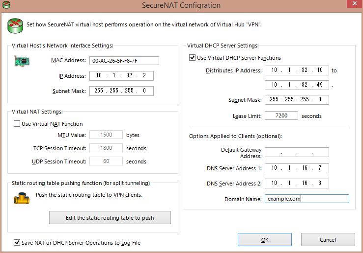 SoftEther VPN with a VPN Address Pool – Majornetwork