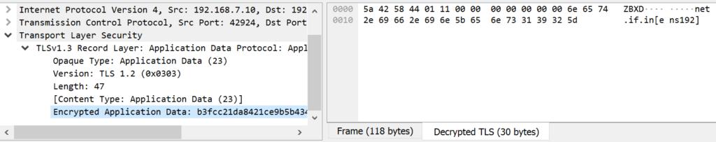 Decrypted TLS data in Wireshark